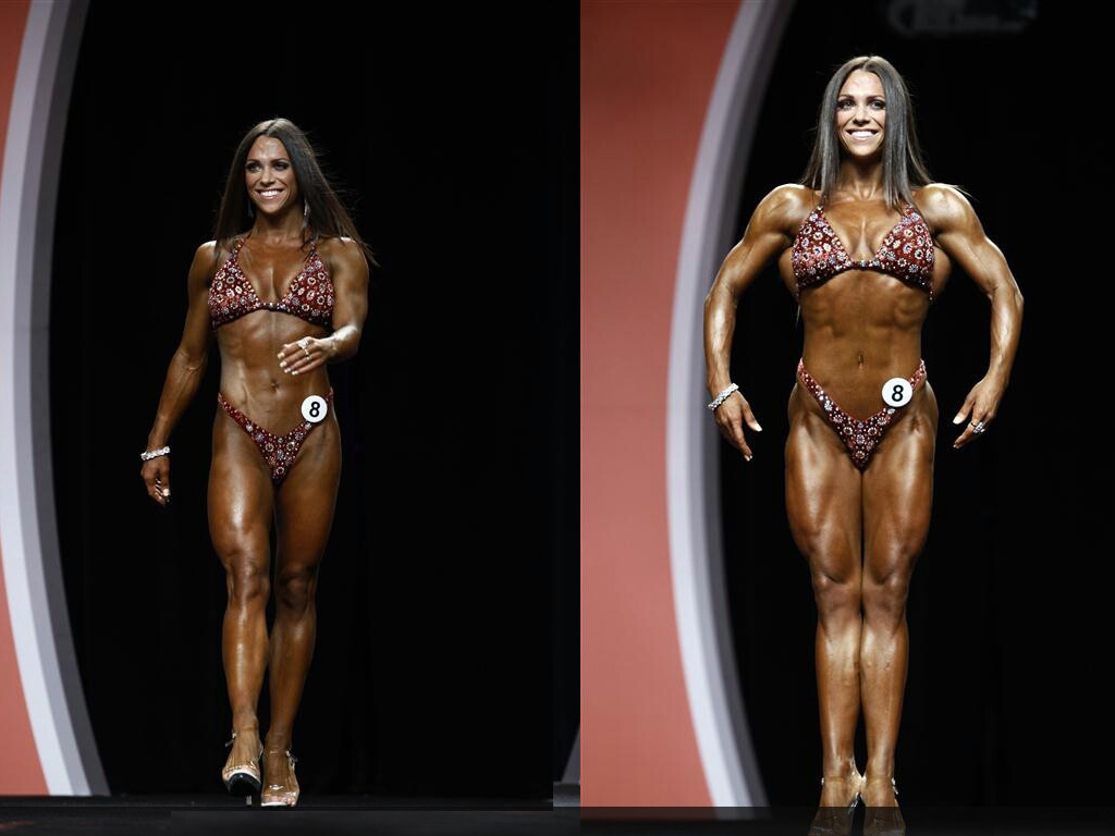 Oksana Grishina seconda classificata al Fitness Olympia 2012
