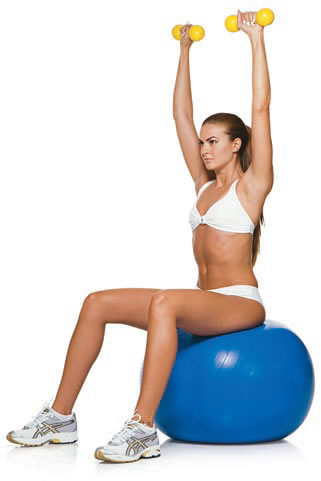 Shoulder press su fitball